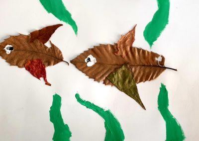 "Protegido: 4º de Primaria Arts and Crafts – ""Animals made of dried leaves"""