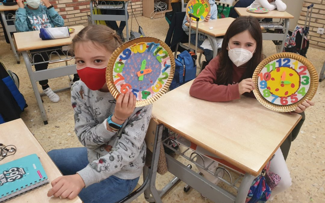 "Protegido: 4º de Primaria- Arts and Crafts: ""Handmade wall clock"""