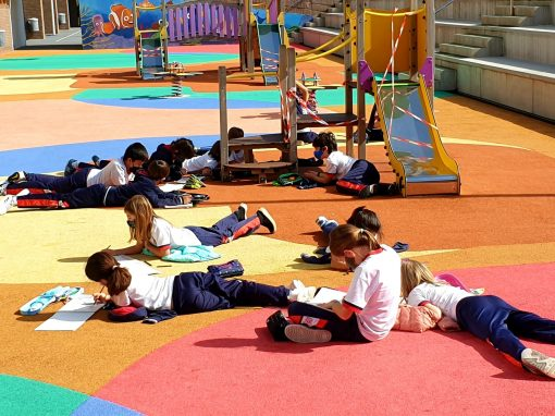 Protegido: 4° Primaria – Arts & Crafts: Kids drawing outdoors What a great day!