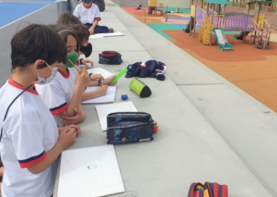Protegido: 4º Primary – Arts & Crafts: Drawing outdoors.